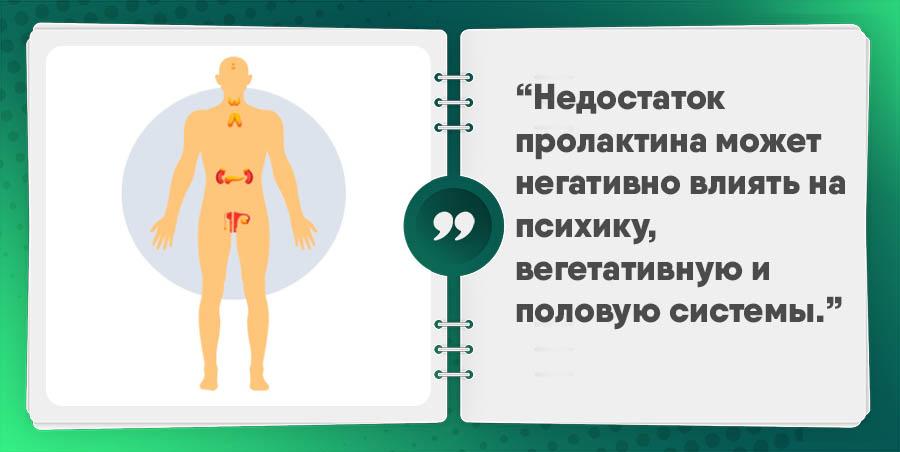 недостаток пролактина у женщин и мужчин